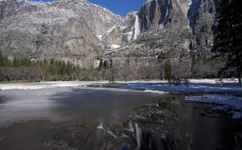 Yosemite Falls from the Meadow