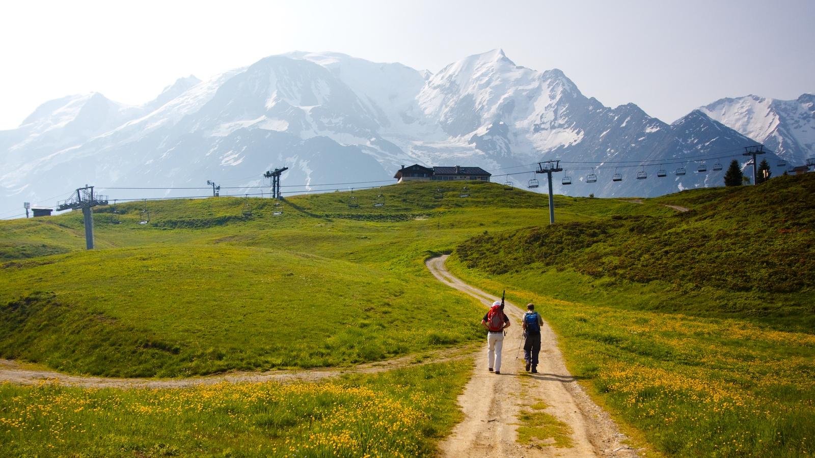 Hillwalking near Mont Blanc