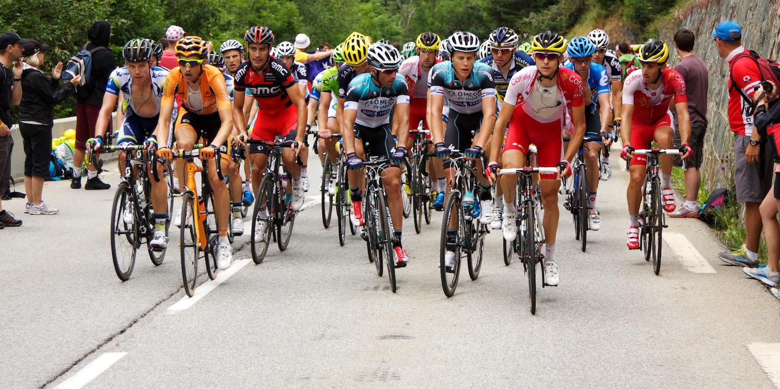 Tour de France Peloton on Alp d'Huez