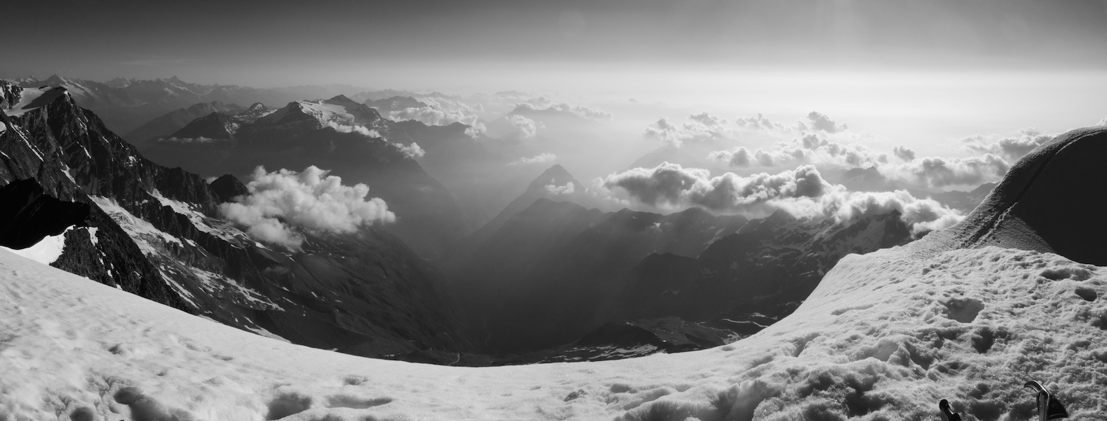 Weissmies Summit Panorama